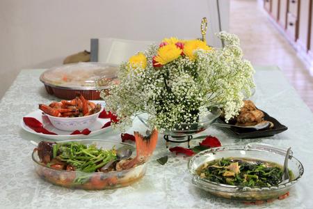 feast: Lunar New Year Feast before consumption