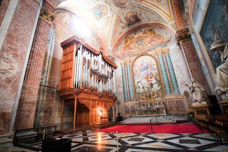 martiri: Church Organ inside a church at Rome Italy