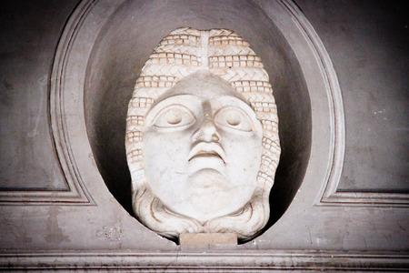 ciudad del vaticano: Estatua de una cabeza dentro Museo Vaticano