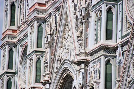 catholism: Close up Exterior of Basilica of Santa Maria Novella