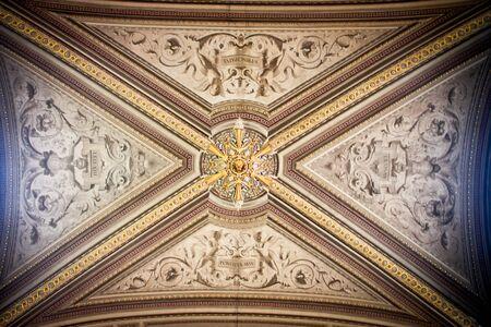 catholism: Close up of Vatican City Museum Ceiling Editorial