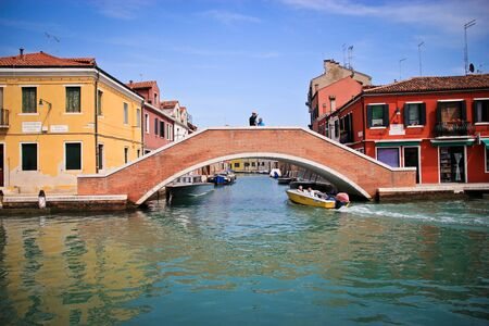 Murano: Venice Murano canals in the day with the sky