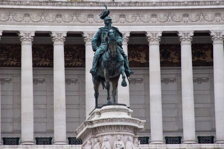 altar of fatherland: Close up of the Statue in front of the Altar of the Fatherland