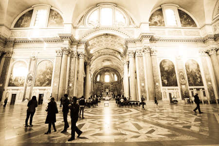 Atrium of the Church at Rome Italy Editorial