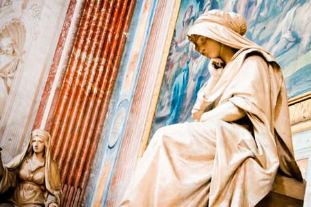 Angeli: Statue of Mother Mary at a Church at Rome Italy