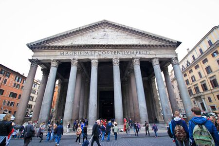 unesco world cultural heritage: Exterior of the pantheon in the day