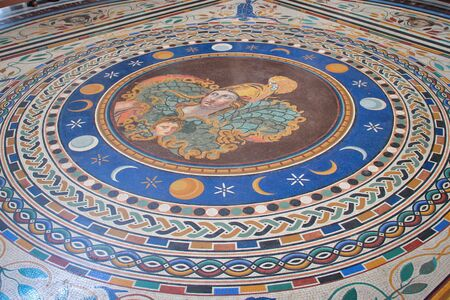 vatican city: Historical Tiled floor of  Vatican City Museum Editorial