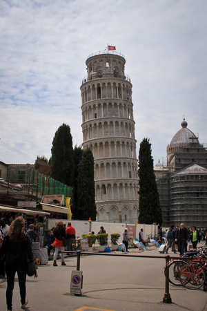 leaning tower of pisa: Exterior of Leaning Tower of Pisa