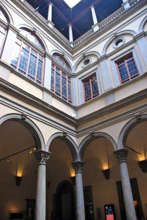 interior architecture: Interior architecture of Strozzi Palace Editorial