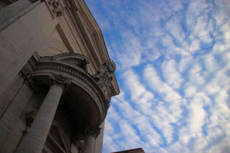 italian architecture: Italian heritage architecture against the background of the blue sky