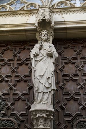 Christ stone sculpture from the doors of the Barcelona Cathedral dating from 1400s Reklamní fotografie