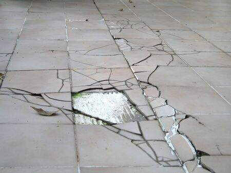 earthquake crack: Earthquake Cracked Floor