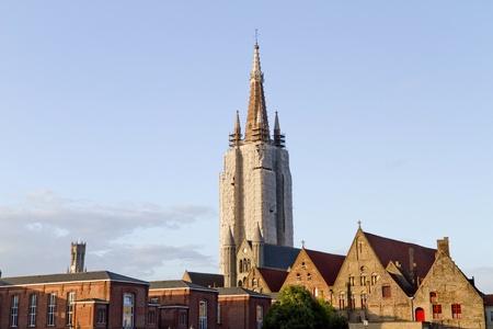 Brugges Cathedral Under Repair, Belgium Zdjęcie Seryjne