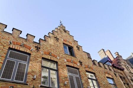 Murs des habitations. Bruges, Belgique Banque d'images - 10714656