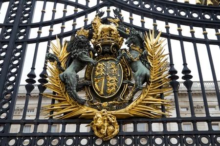 buckingham palace: Coat Of Arms United Kingdom from Buckingham Palace Doors.