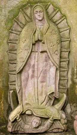 of our lady: Virgin Guadalupe Quarry Stone