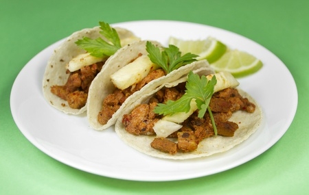 Mexican Tacos Al Pastor Style  photo
