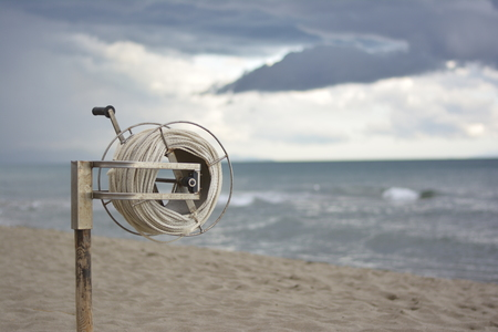 Rescue reel on the beach