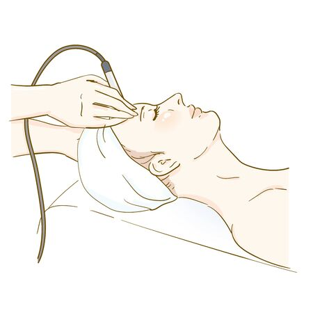 Esthetic Professional Treatment Scene Vacuum Vecteurs