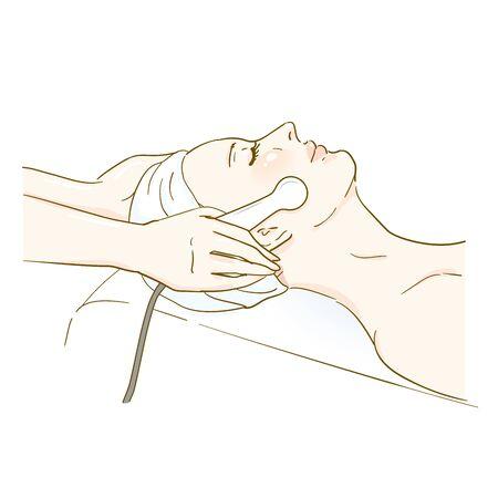 Esthetic professional treatment scene electroporation