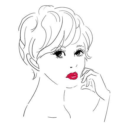 Hair salon, fashion, makeup 2 일러스트