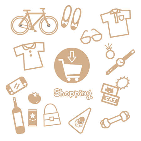 Online Shopping Purchase Item Icon 向量圖像
