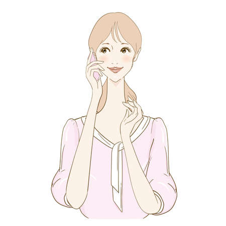 Woman Natural Talking On Smartphone