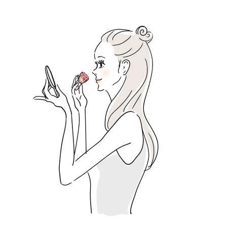 Woman In Makeup Blush
