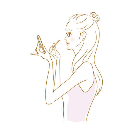 Woman In Makeup Pencil