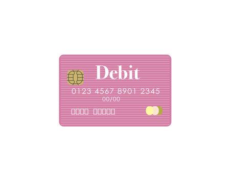 Debit card image vector illustration Ilustracja