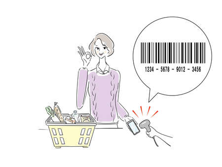 Barcode Smartphone Payment Senior Woman