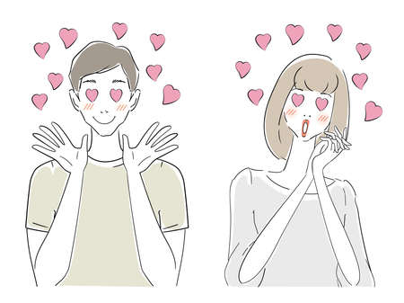 Men and women in their 30s in love