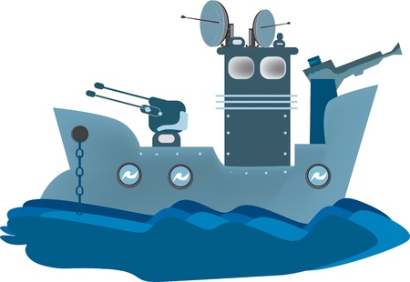 warship: warship Illustration