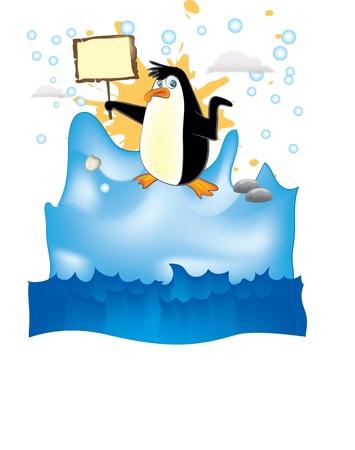Penguin in arctic Stock Vector - 11600387
