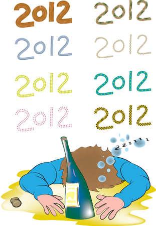 Happy new 2012 Stock Vector - 11600385