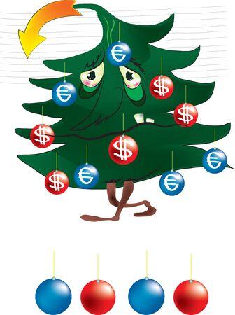 poor christmas tree Stock Vector - 11600386