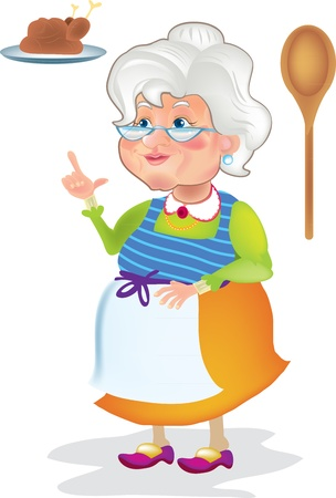 grandma cook Illustration