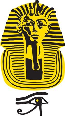 hieroglieven: Symbool van de grote farao Toetanchamon, vector Stock Illustratie