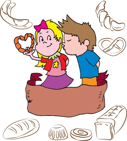 Bakery children Vector