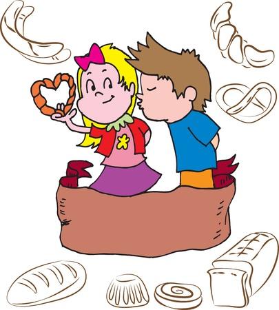 kneading: Bakery children