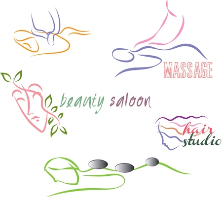 massage stones: wellness set Illustration