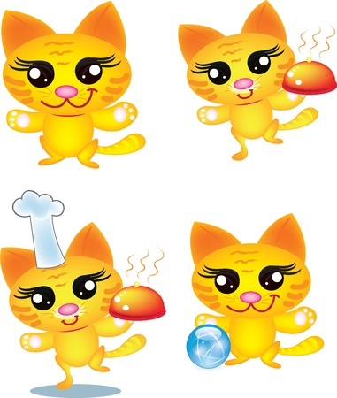 lovable: Cat chef Illustration