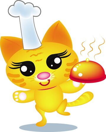 chef cat Vector