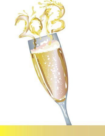 popping cork: Champagne 2013 Illustration