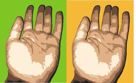 human hand vector Illustration