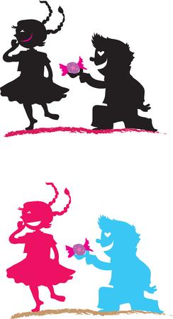 baby love, color illustration Illustration
