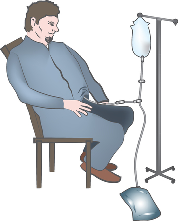 dialysis: Dialisys at home, medical graphics Illustration
