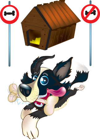 Dog and his house Illustration