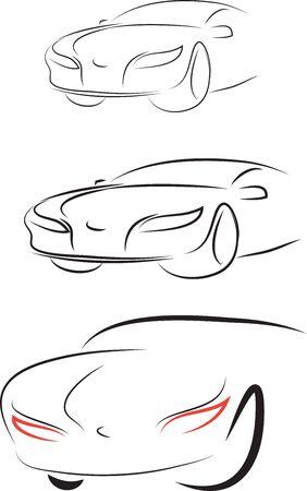 set of car Illustration