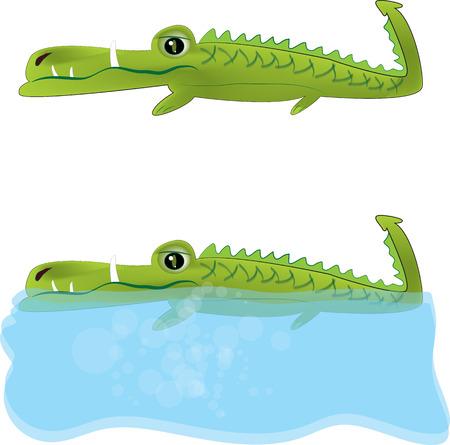 nile river: Cartoon crocodile